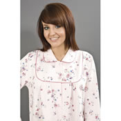Quilted Button Print Dressing Gown