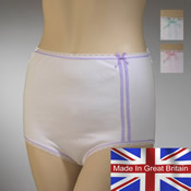 Ladies Mama Briefs with Tram Lines