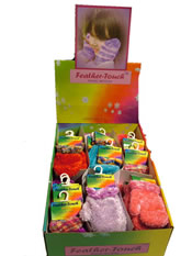 Kids Feather Touch mittens coloured cuff