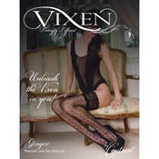 Vixen Ginger Peacock Lace Top Hold Up