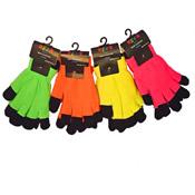 2 In 1 Neon Magic Gloves Plain