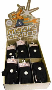 Kids Boxed Magic Gloves Black