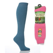 Ladies Wellington Boot Socks Mixed Colours