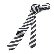 Black & White Stripe Tie
