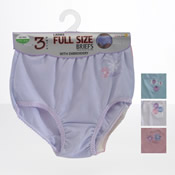 Ladies Embroidered Mama Briefs