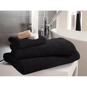 Egyptian Cotton Bath Towel Black Plain