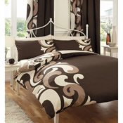 Grandeur Chocolate Duvet Set Bedding
