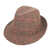 Adult Tweed Country Trilby Hat