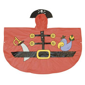 Childrens Pirate Poncho Showerproof