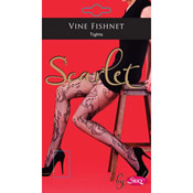 Vine Fishnet Lace Tights