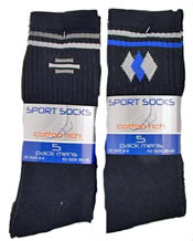 Mens 6-11 Sport Socks 5 Pack