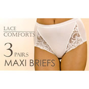 Lace Comfort Maxi Briefs