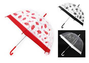 Clear Dome Umbrella Mixed Designs