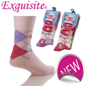 Easy Grip Non Elastic Socks Argyle