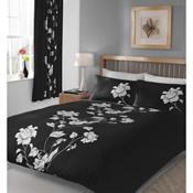 Chantilly Black Duvet Set Bedding