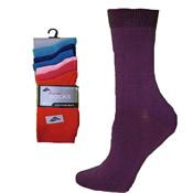 6 Pack Lycra Socks 4-6