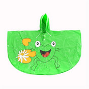 Childrens Frog Poncho Showerproof