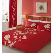 Chantilly Red Duvet Set Bedding