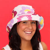 Ladies Sun Hat with Floral Pattern