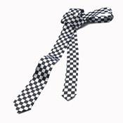 Black & White Check Tie