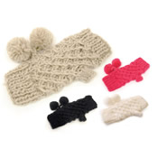 RJM Ladies Open Knitted Gloves with Bobbles
