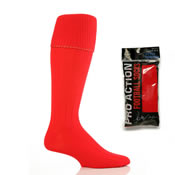 Mens Football Socks Red 6-11