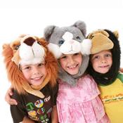 Childrens Novelty Animal Furry Hat