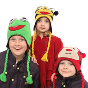Childrens Novelty Animal Hats with Tassles