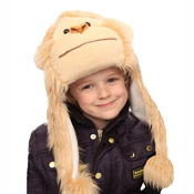 Childrens Faux Fur Animal Hat