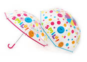 Childrens Clear Smiley Face Umbrella