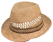 Straw Mens Trilby Hat