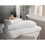 Egyptian Cotton Bath Towel White Plain