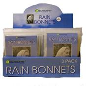 Rain Bonnets 3 Pack