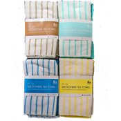Microfibre Stripe Tea Towels 4 Pack