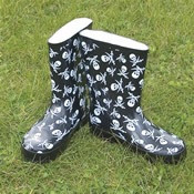 Childrens Skull Wellies