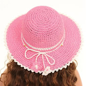 Girls Straw Hat with Flower