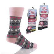 Easy Grip Non Elastic Socks with Hearts