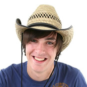 Adults Straw Cowboy Shapeable Hat