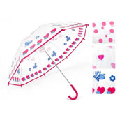 Clear Childrens Umbrella Fancy Design